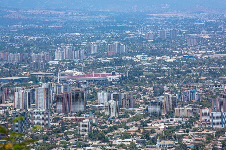 Cityscape - Santiago, Chile - View from Cerro San Cristóbal (San Cristóbal Hill)