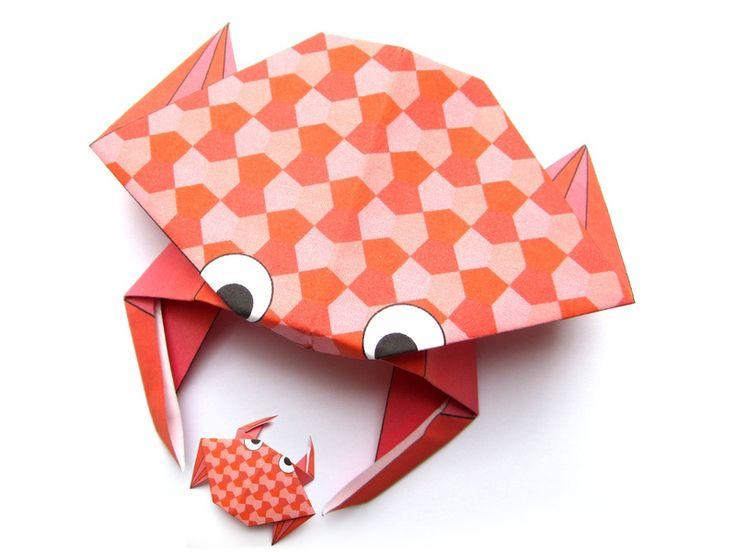 Crabe en origami