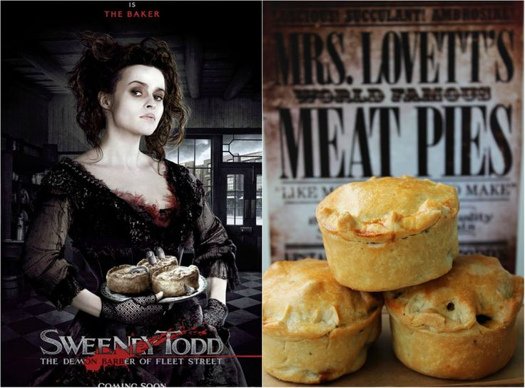 Mrs. Lovetts pies from Sweeney todd