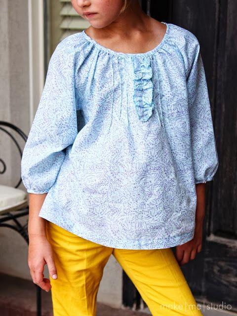 Ottobre blouse  make me studio: Sewing