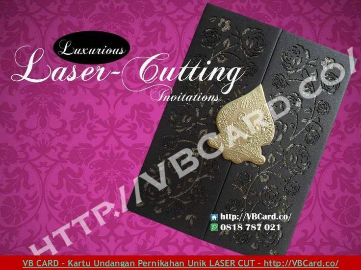 Kartu undangan pernikahan dengan teknologi laser cutting yang mewah, elegan, unik dan harga murah dari VB Card - Jakarta.