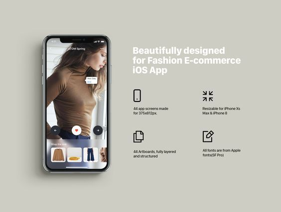 Athena | Mobile App UI Kit for Fashion App UI Kit