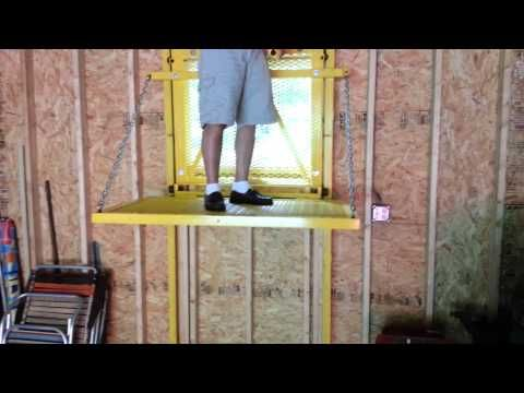 An elevator that will go from the basement to the attic, kept in a locked closet.