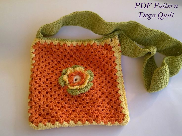 Crochet pattern - Flower bag for little girls