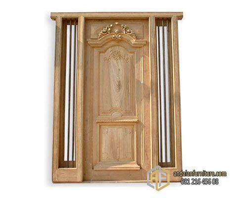 Pintu Rumah Kayu Jati Ukir