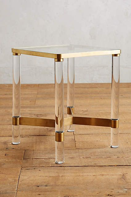 Great Anthropologie Oscarine Lucite End Table Part 31