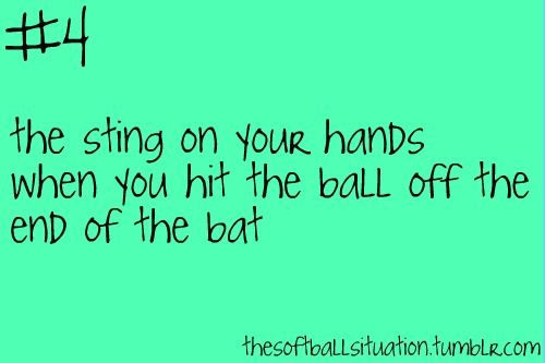 the softball situation. Softball problem
