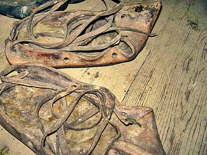opinci (in Peasant Museum from Criscior)-old shoes