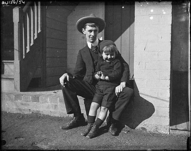 Norman & Jack Lindsay, ca. 1900-1912, by Lionel Lindsay by State Library of New South Wales collection, via Flickr