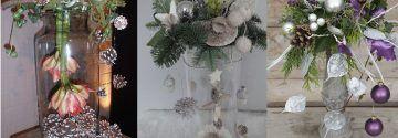 Maak een kerststuk bovenop een vaas en creer zo iets unieks! 9 gave ideetjes!!