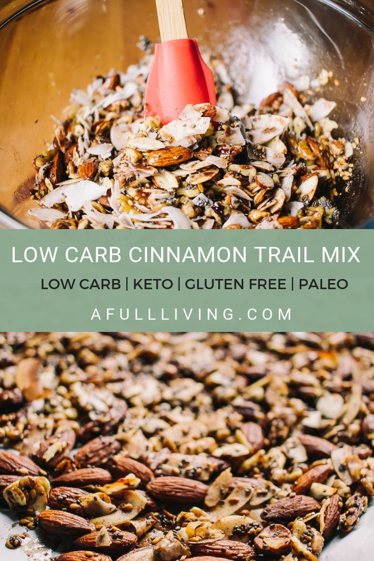 This 15 Minute Low Carb Cinnamon Trail Mix will satisfy your cravings for sweets…