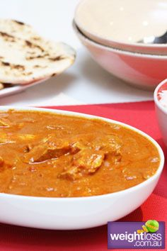 Indian Butter Chicken. #HealthyRecipes #DietRecipes #WeightLoss #WeightlossRecipes weightloss.com.au