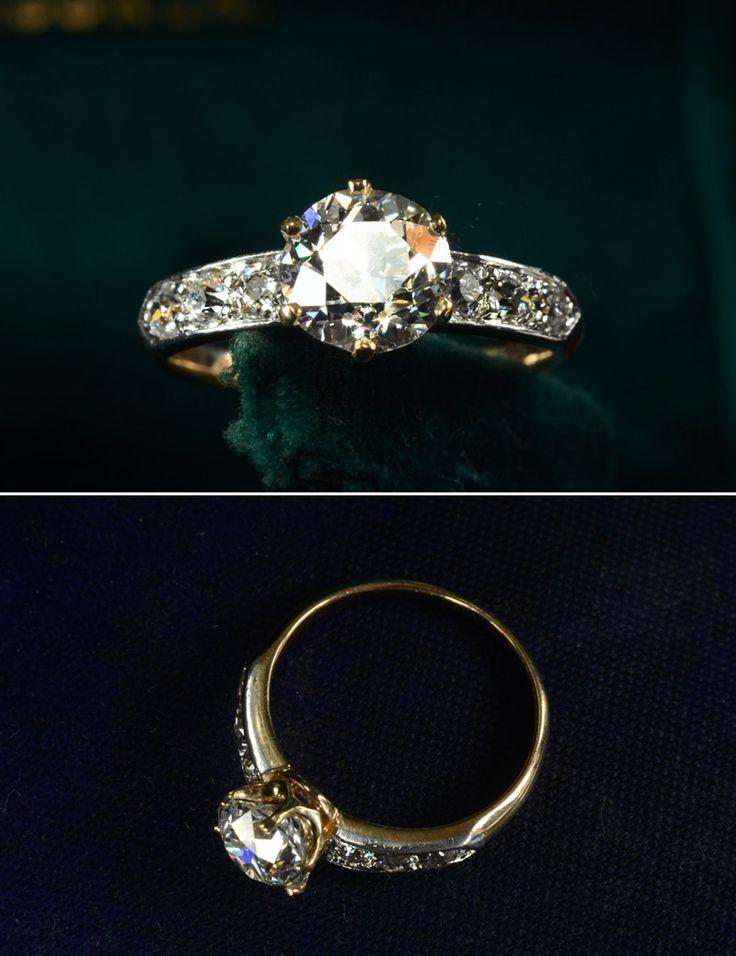 1900s Edwardian European Cut Diamond. #engagementring #vintage #antique