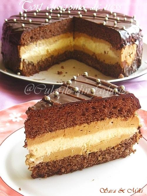 Culorile din farfurie: Tort cu crema de ness