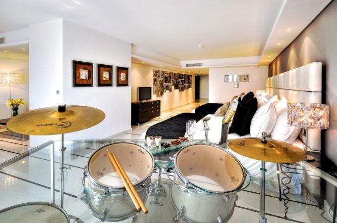 6 různých stylů maltského hotelu - music suite