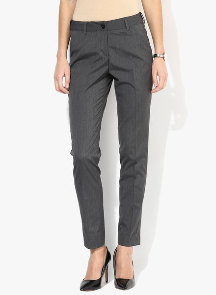 Buy Park Avenue Grey Solid Chinos for Women Online India, Best Prices, Reviews   PA830WA69KFEINDFAS