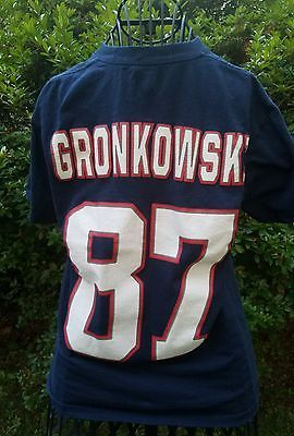 NFL Team Apparel Rob Gronkowski New England Patriots T- Shirt Size Adult Small