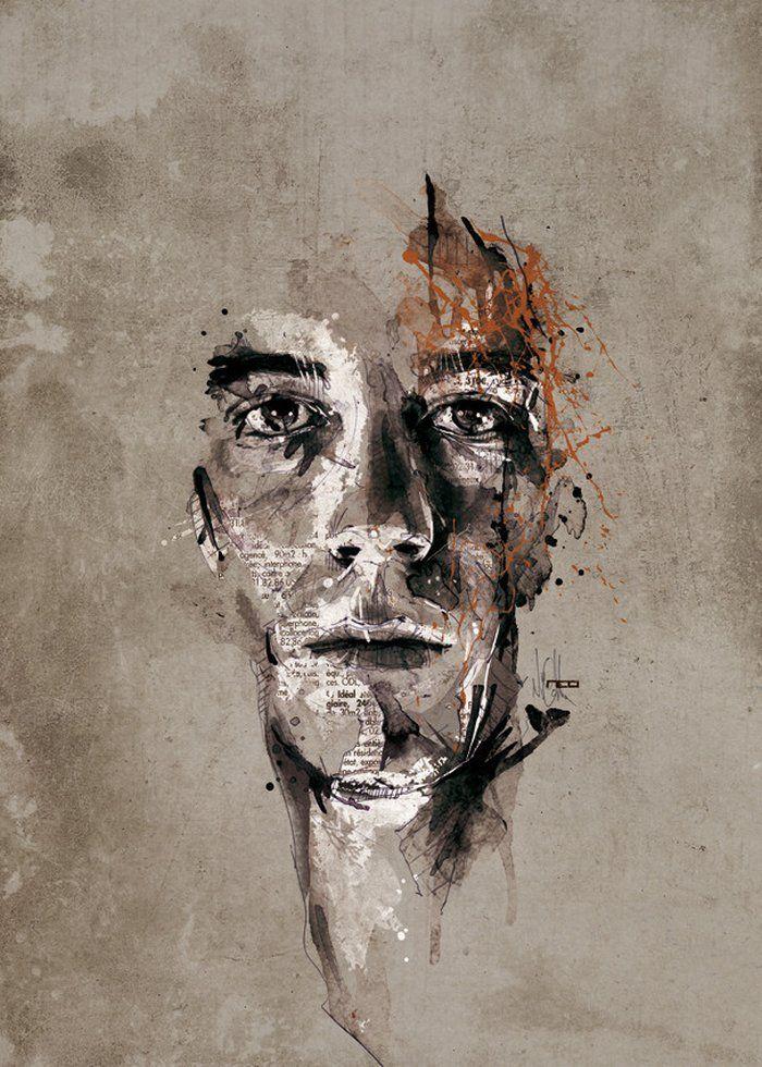 Ausgefallene Portrait Illustrationen von Florian Nicolle | DerTypvonNebenan.de