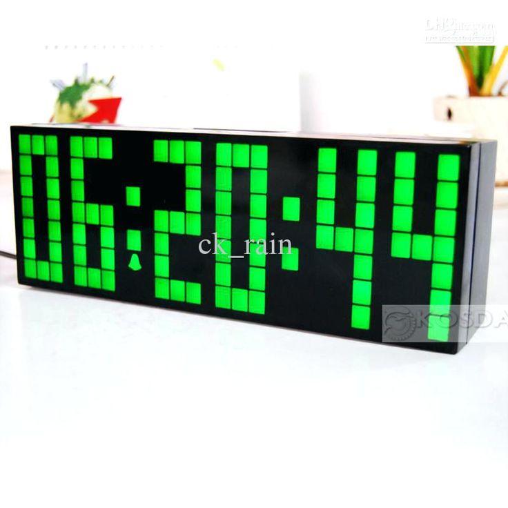 large display clocks large big jumbo led clock display wall alarm temperature calendar digital timer blue clock from ck rain large display digital clock calendar