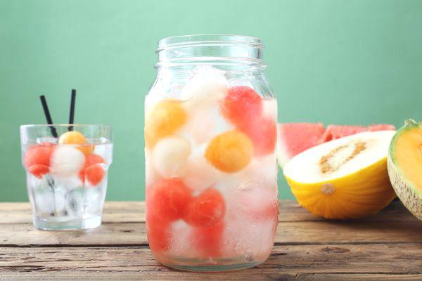 Détox water au melon et à la pastèque