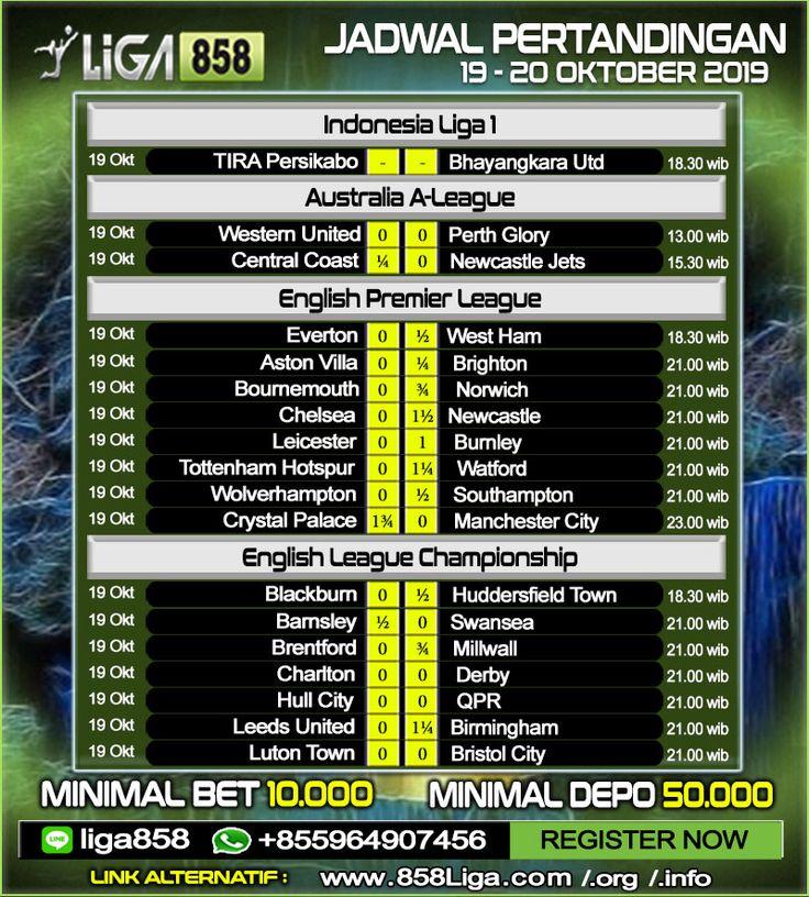 Jadwal Pertandingan Sepak Bola 19 20 Oktober 2019 Promo