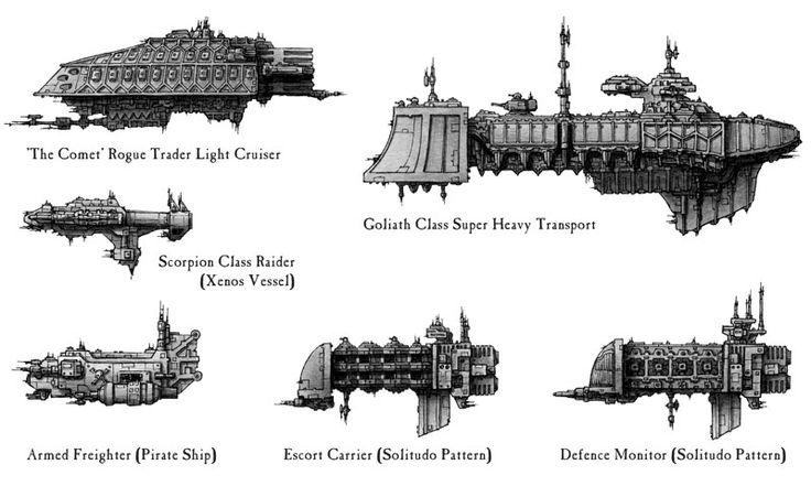 BFG Rogue Trader Ships