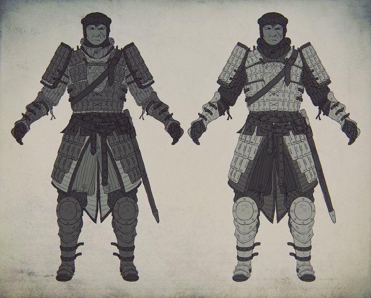 Knight's lamellar armor concept 1, Evgeniy Gottsnake on ArtStation at https://www.artstation.com/artwork/knight-s-lamellar-armor-concept-1