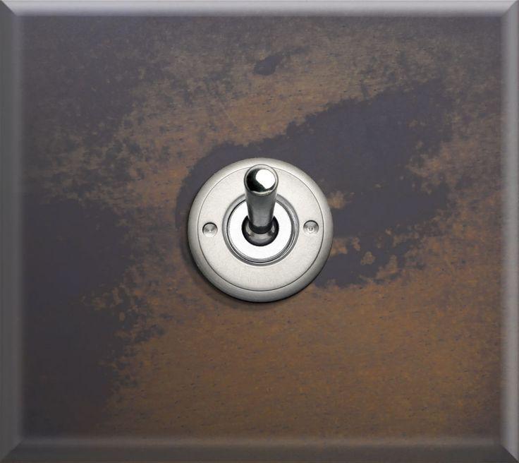 Interrupteur bouton poussoir / à levier / en acier / de style industriel - FORJA - Llinàs BCN