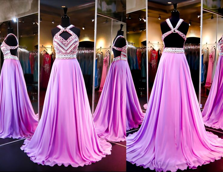 Lilac Chiffon Prom Pageant Dress-Aztec Bodice-Open Back-116RA070720 at Rsvp Prom and Pageant, your source for the HOTTEST 2016 Prom and Pageant Dresses!