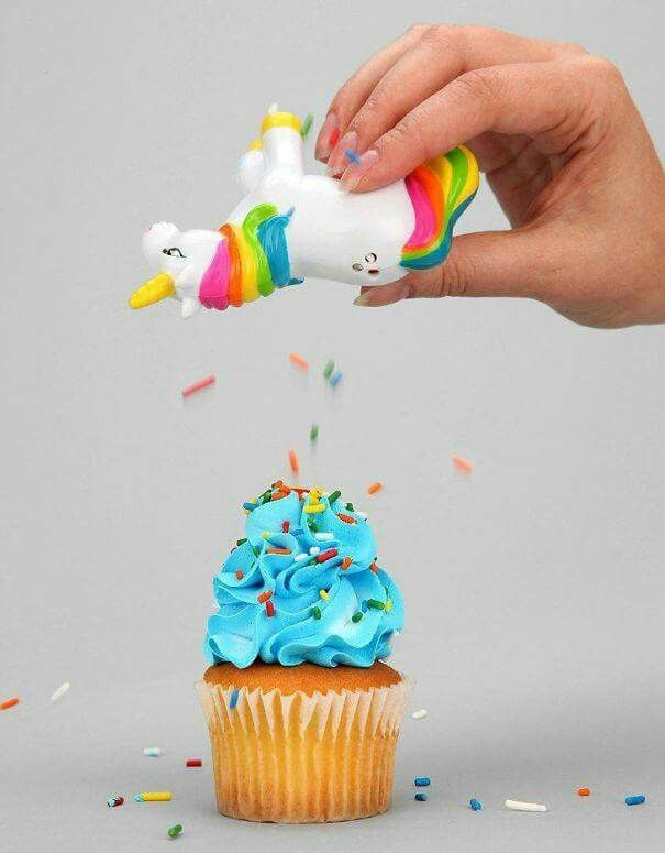Unicorn sprinkle shaker - this would be better if the sprinkles came out of the unicorn's butt