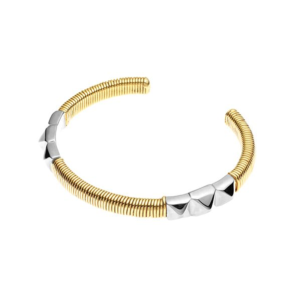 PUSHMATAAHA // Sun Gaze Cuff in Gold Plate and 925 Sterling Silver
