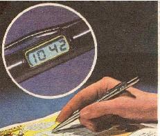 Le stylo-bille qui affiche l'heure