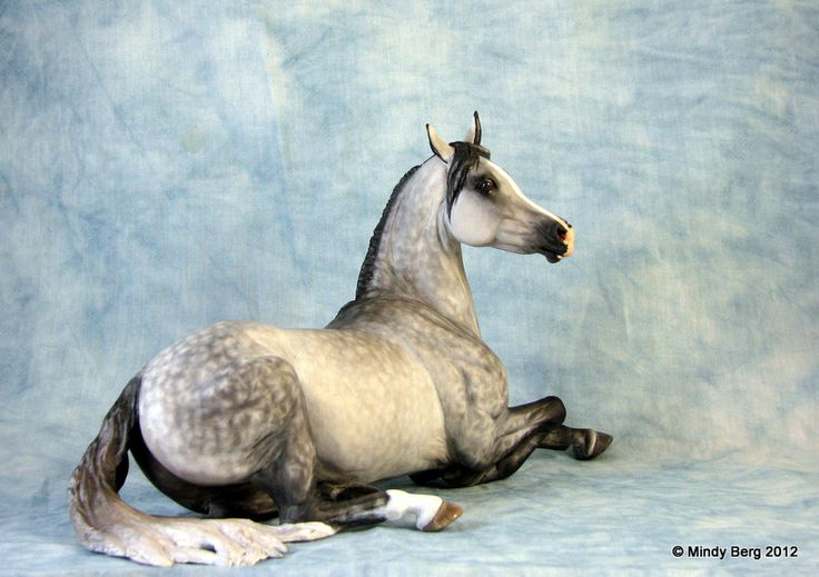 One of a kind OOAK Custom CM horse Breyer Arabian Mare Weathergirl & saluki dog | eBay