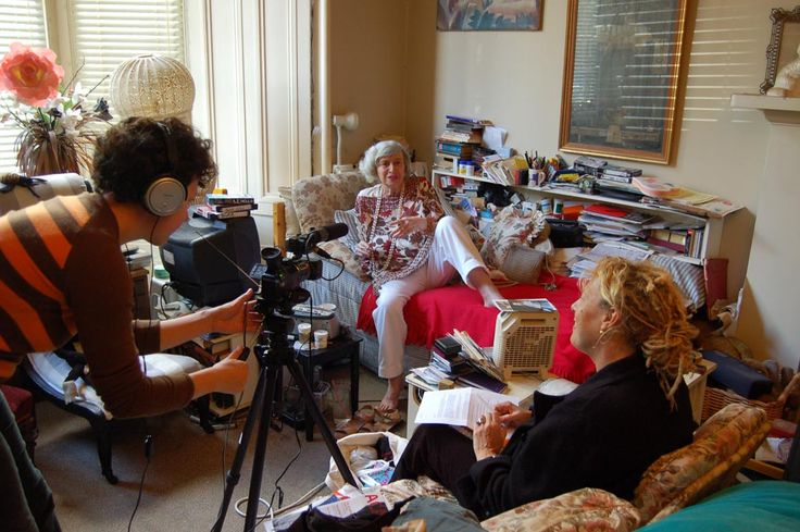Filming a Living Heroines interview with Katy Gardener