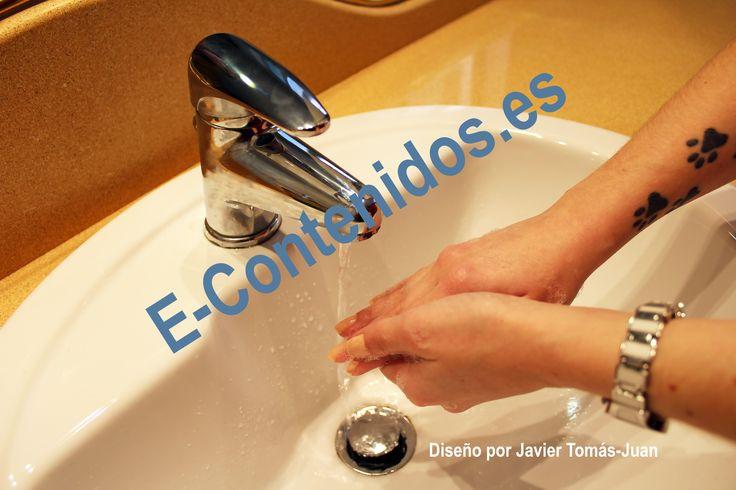 Informa sobre la higiene de manos mediante estrategias de marketing de contenidos.