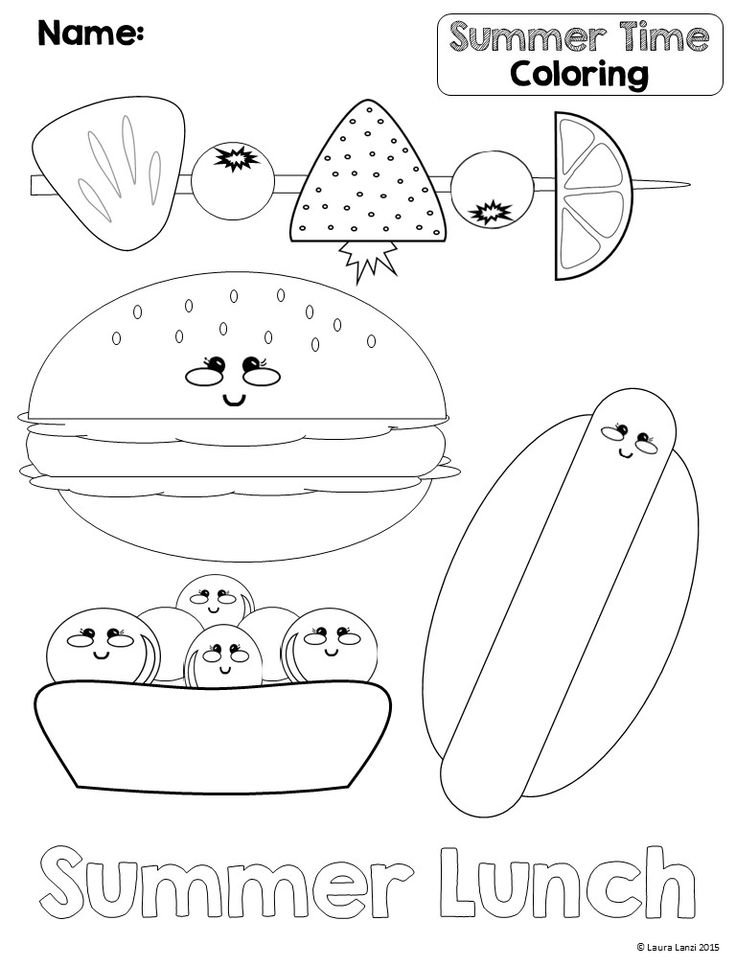9 best Summer Coloring Pages images on Pinterest | Colouring ...