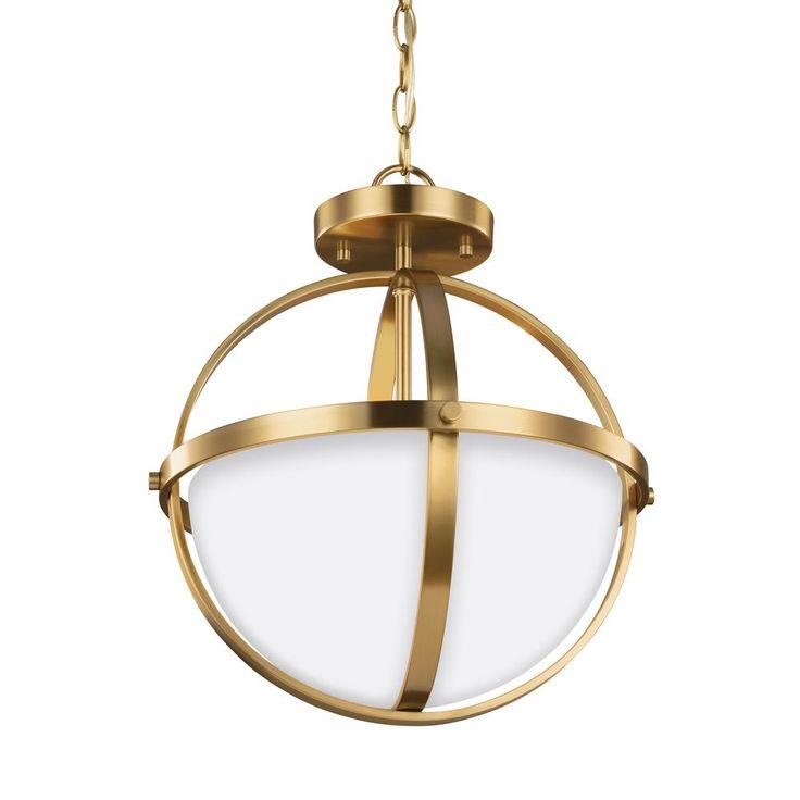 Sea Gull Lighting Alturas 2-Light Satin Bronze Pendant