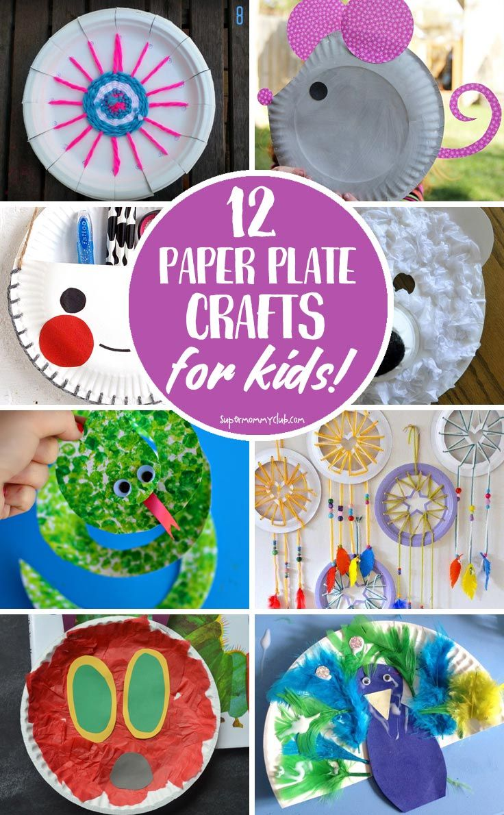 12 Paper Plate Crafts for Kids of All Ages to Enjoy!  sc 1 st  Pinterest & 165 best Paper Plate Crafts images on Pinterest | Paper plate crafts ...