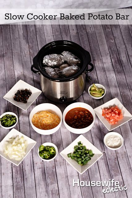 Housewife Eclectic: Slow Cooker Baked Potato Bar