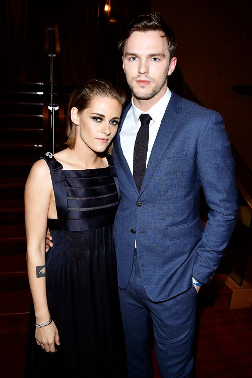 Kristen Stewart and Nicholas Hoult attend the 'Equals' premiere during the 2015 Toronto International Film Festival at the Princess of Wales Theatre on September 13, 2015 in Toronto, Canada.