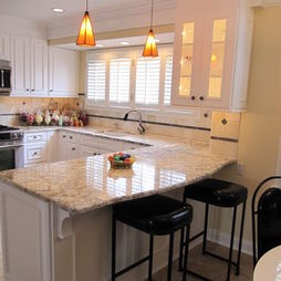 Love curved peninsula and layout maybe windows on either - Kitchen peninsula with stove ...