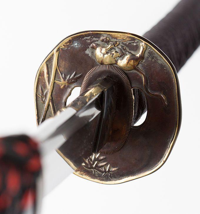 """Japanese Samurai Sword Traditional Katana TIGER & BAMBOO 玉鋼""""Tamahagane 74.5"""""""