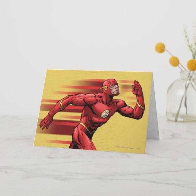 Flash Running Card Zazzle Com In 2020 Cards Batman Green