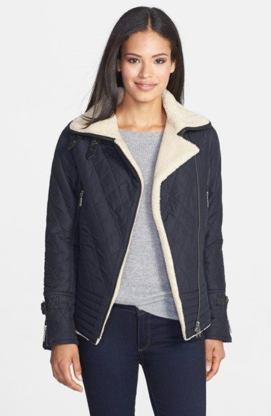 love this jacket! ~ Barbour 'Battalion' Quilted Bomber Jacket