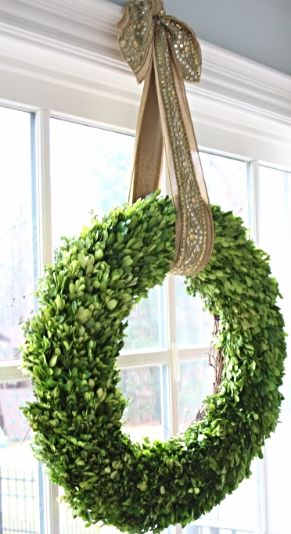 Holiday Decor from @bluegraygal featuring Frontgate Holiday Ribbon...