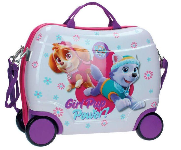 Maleta Patrulla canina ideal para chicas, de Sky ey Everest las perritas de la patrulla canina, haz que tus viajes sean una verdadera aventura con esta maleta