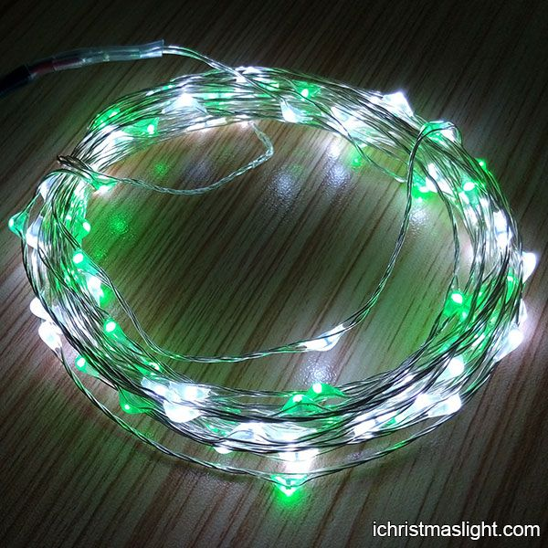 Green and white Xmas outdoor fairy lights   iChristmasLight