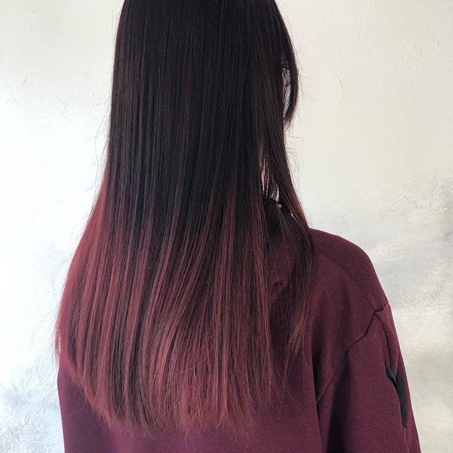 Yumikaさんはinstagramを利用しています 一度赤に染めてから濃い