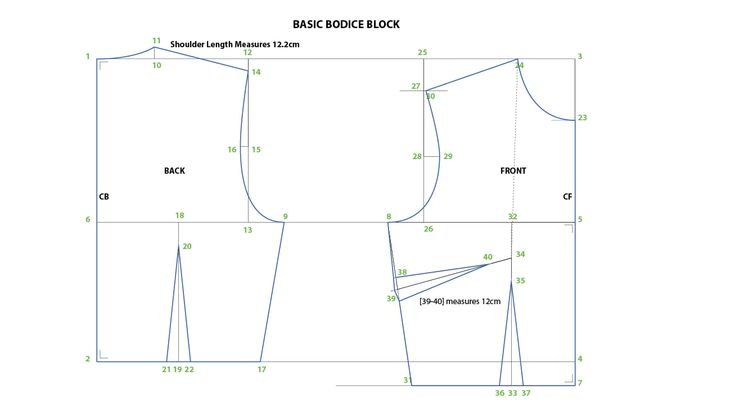 Drafting Basic Bodice Block | pattern drafting | Bodice pattern
