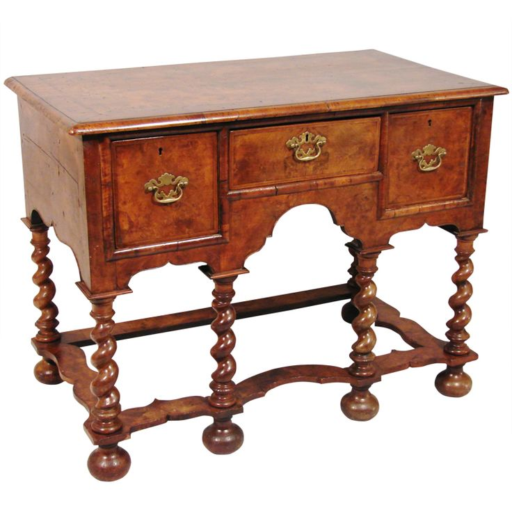 William And Mary Style Walnut Lowboy